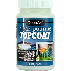 DecoArt Clear Pouring Topcoat 8oz Acrylique Transparent Très Brilliant DS134-8