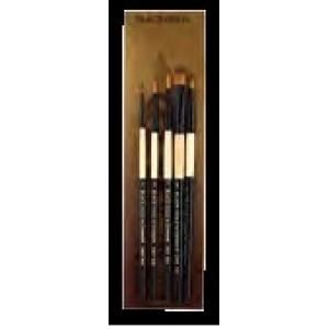 FM Brush, Dynasty Ensemble Pinceau Black Gold Manche Court Ensemble #BG4 #27593