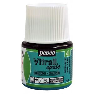Pébéo, Vitrail Opale 45ml Bleu Océan #050043